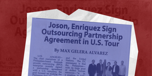 The chief executives of a Philippine-based business process outsourcing (BPO) enterprise recently signed a partnership agreement with a U.S company.